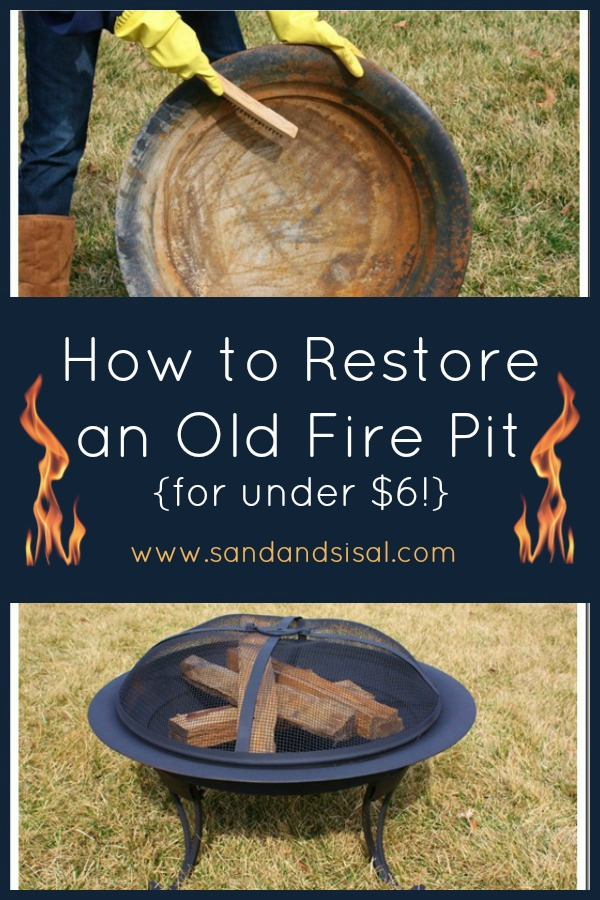 Repainting An Old Fire Pit Sand And Sisal