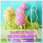 Easter Egg Brownie Pops