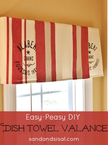 easy dish towel valance
