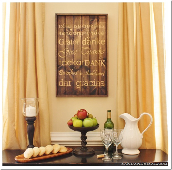 Thanksgiving Subway Art {Pottery Barn Inspired} - Sand and Sisal