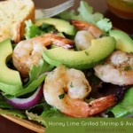 Honey Lime Grilled Shrimp and Avocado Salad