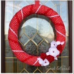Valentine Wreath {Felt Flower Tutorial}