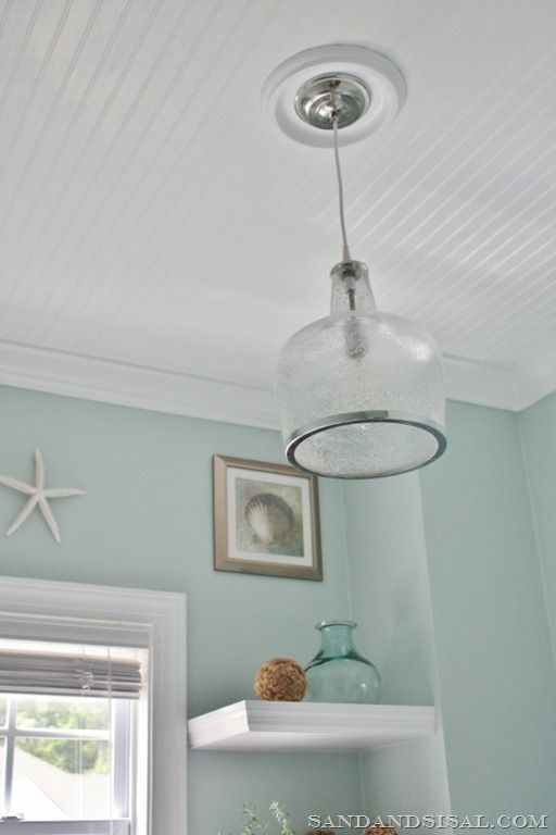 How To Install Beadboard Or Barn Wood On The Ceiling Diy
