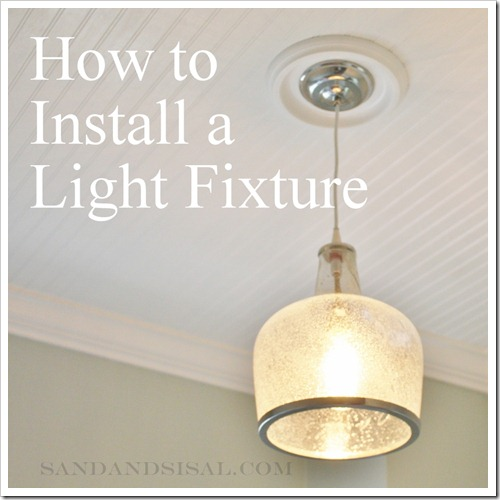 How to hang a light fixture
