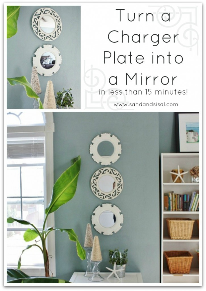 How to Turn a Charger Plate into a Mirror