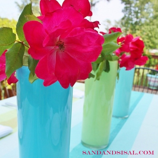 paint a glass vase