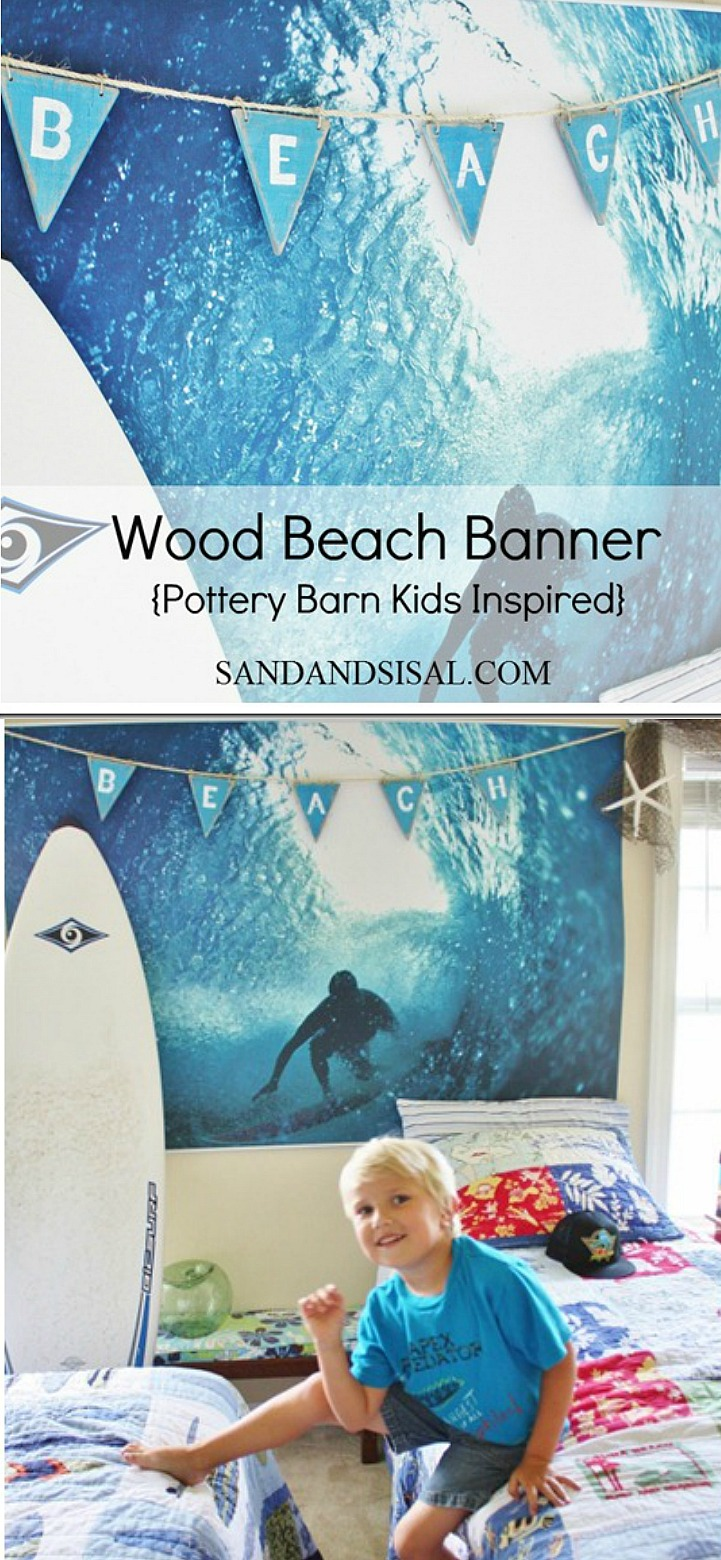 DIY Wood Beach Pennant Banner