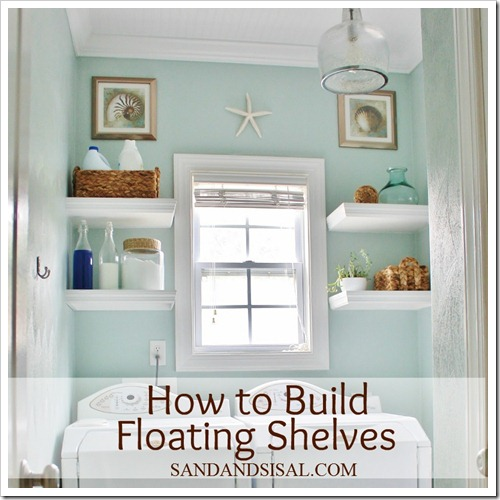 How to build floating shelves by Sand and Sisal