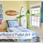 Surfboard Pallet Art sign