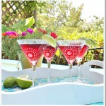 Frost Stenciled Martini Glasses Thumbnail 2