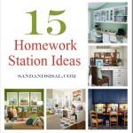 Homework Station Ideas