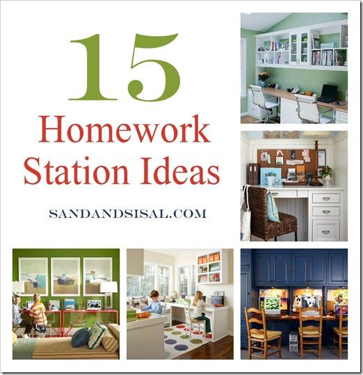 15 Homework Station Ideas Sand And Sisal