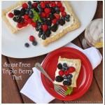 Sugar Free Triple Berry Tart