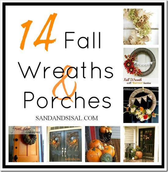 14 Fall Wreaths & Porches