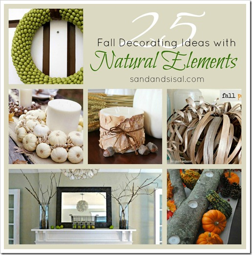 Fall Decorating With Natural Elements Sand And Sisal