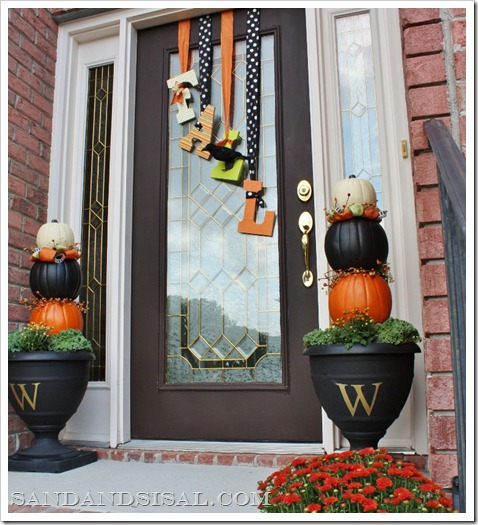 Fall Front Porch By Sand And Sisal