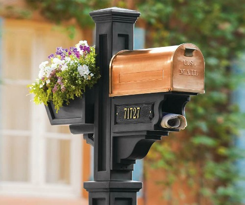 Copper mail box