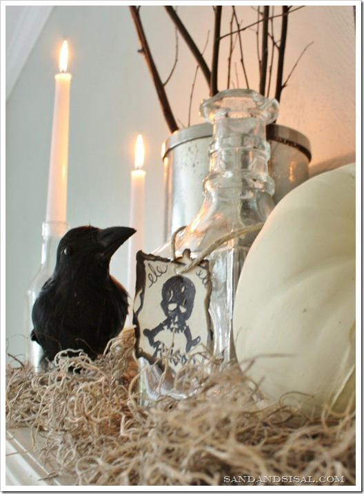 Halloween Mantel - Poison bottle
