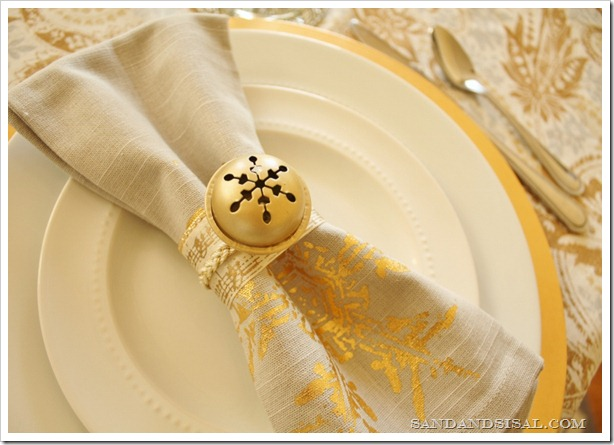 DIY Jingle Bell Napkin Rings