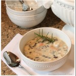 Creamy Chicken & Wild Rice Soup by Sand & Sisal[12]