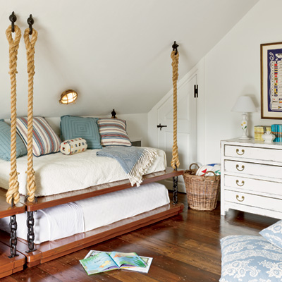 how to make hanging bunk beds