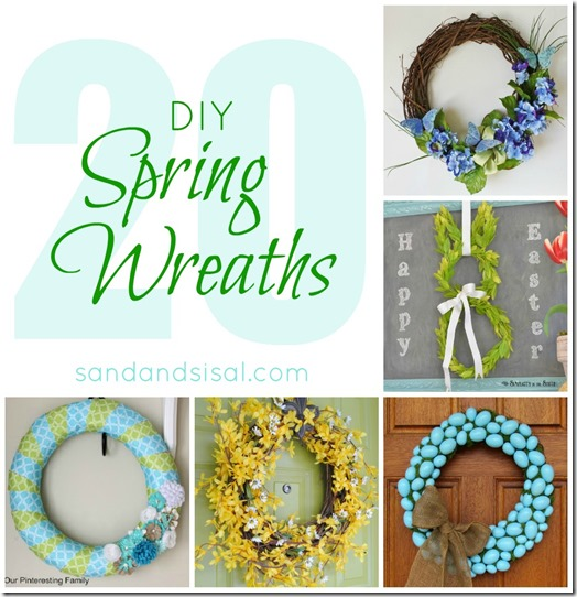 20 DIY Spring Wreaths