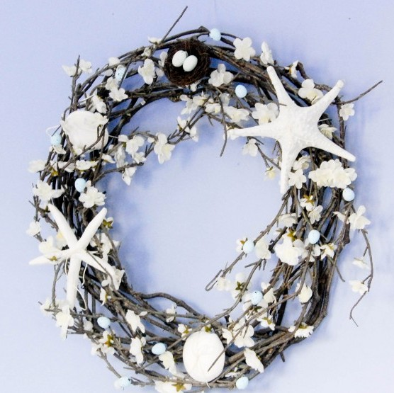 Coastal Easter Wreath