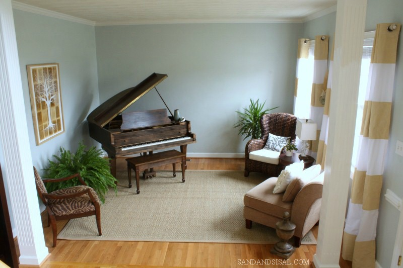 Comfort Gray & Gold music room by Sand & Sisal