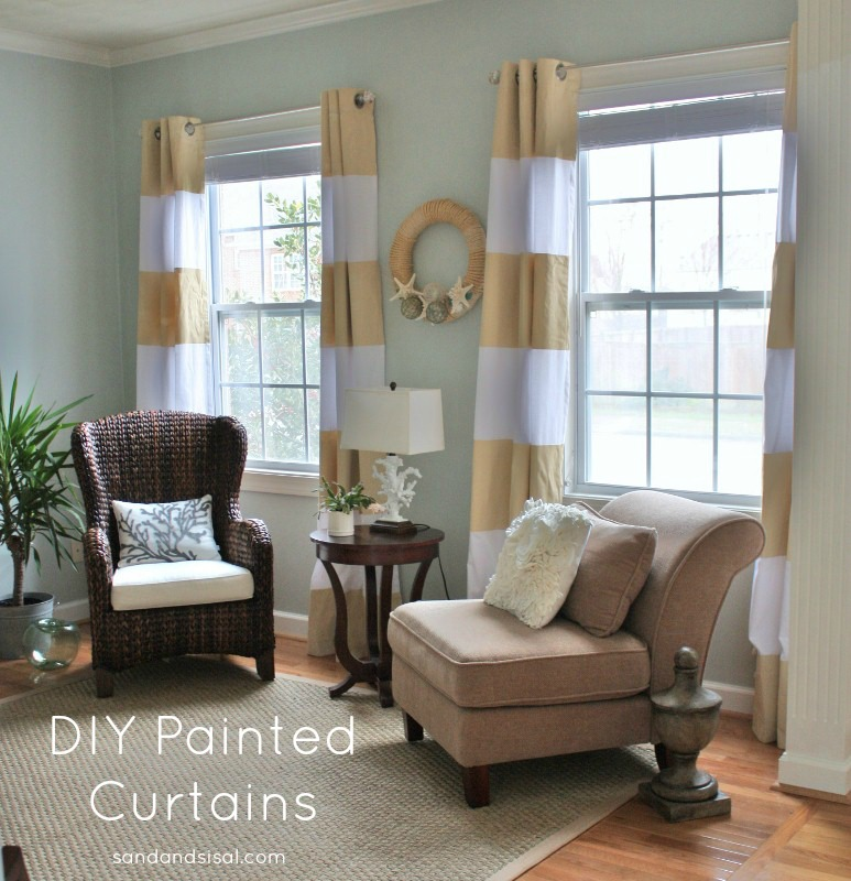 DIY Curtains - Sand and Sisal