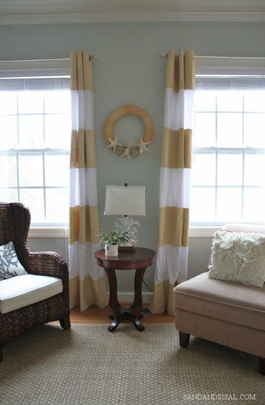 DIY Painted Curtains - Sand & Sisal