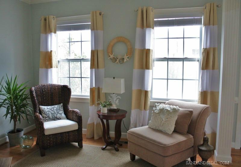 DIY Painted Curtains- Sand & Sisal