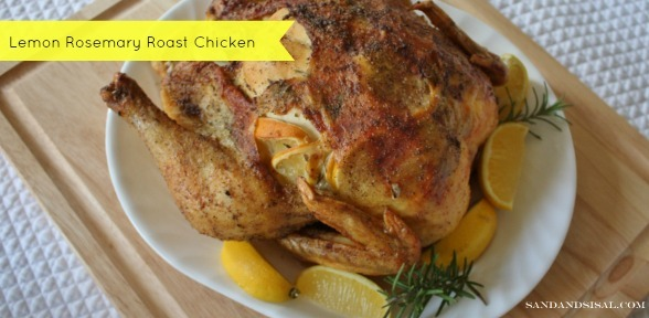 Lemon Rosemary Roast Chicken via Sand and Sisal
