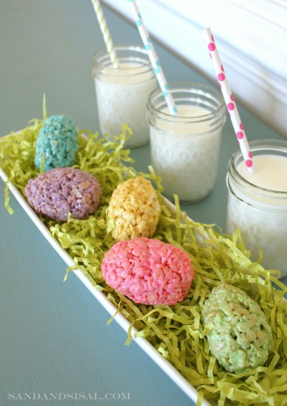 Rice Krispie Easter Eggs by Sand and Sisal