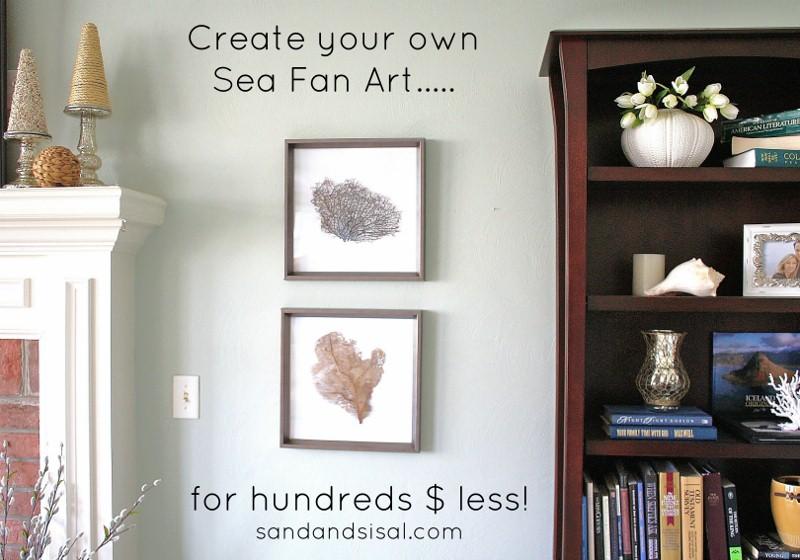 Sea Fan Art by Sand and Sisal