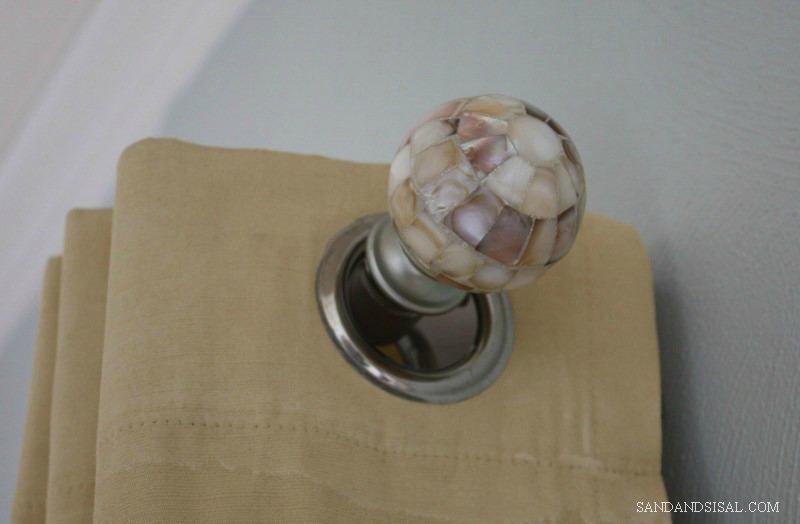 Shell Finial - Sand and Sisal