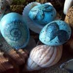 coastal easter eggs