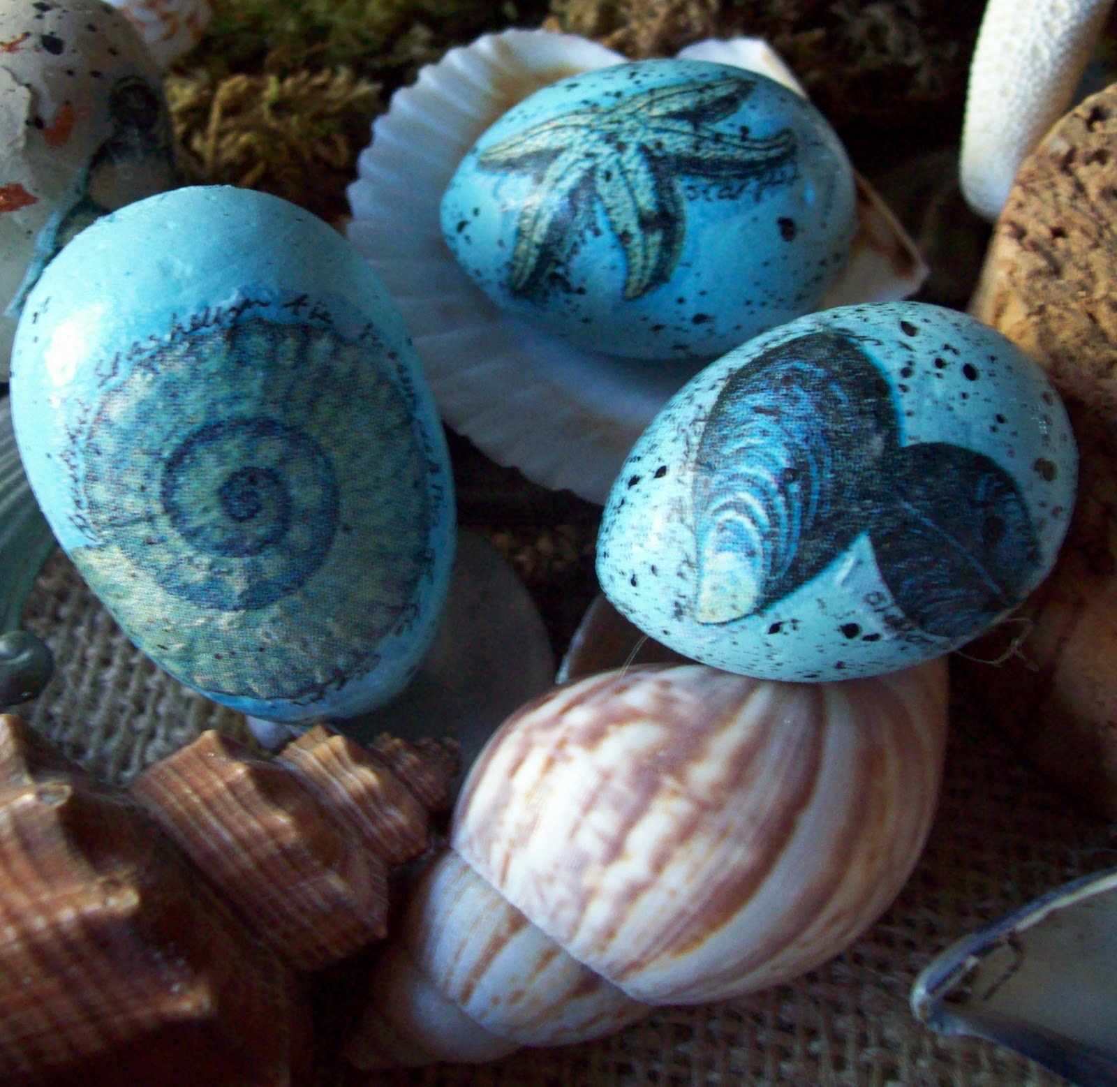 coastal easter eggs