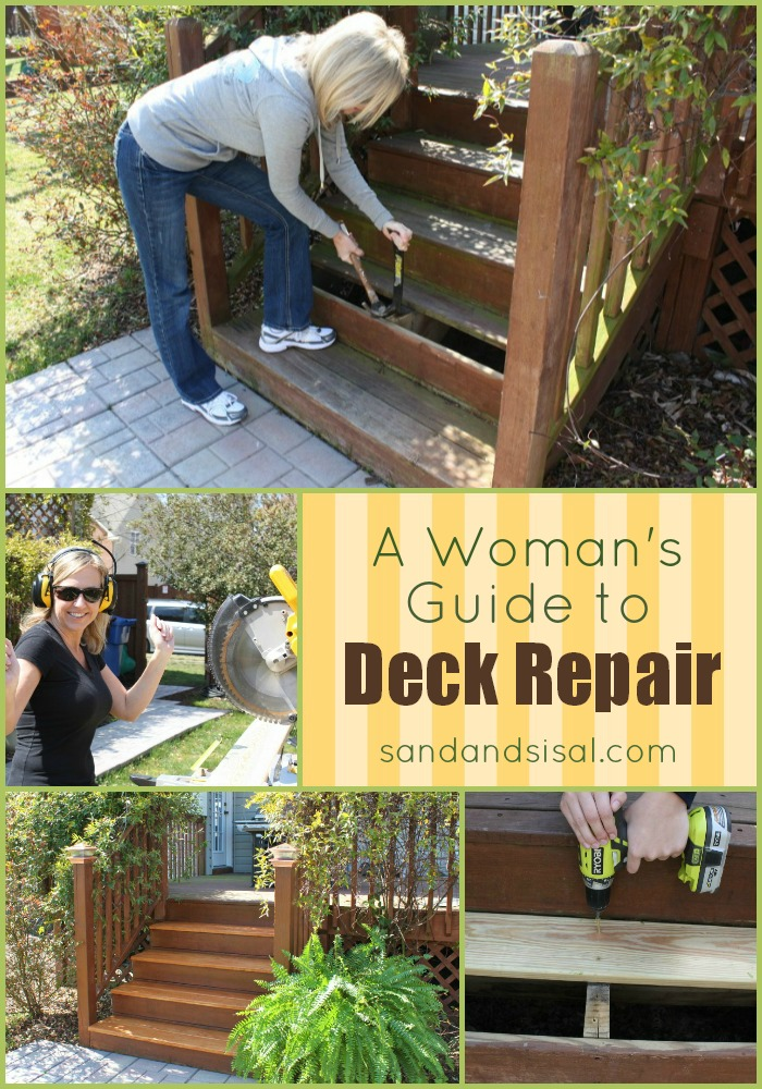 A girlfriend 39 s guide to deck repair sand and sisal for Balcony repairs