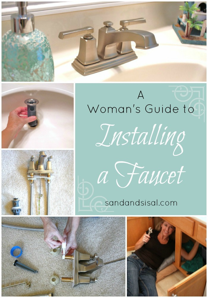 A Woman\'s Guide to Installing a Faucet - Sand and Sisal