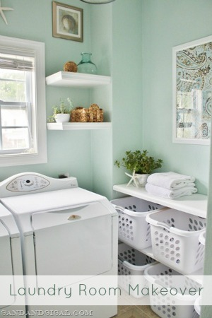 Beautiful And Calming Laundry Room Makeover At Betterafter Net