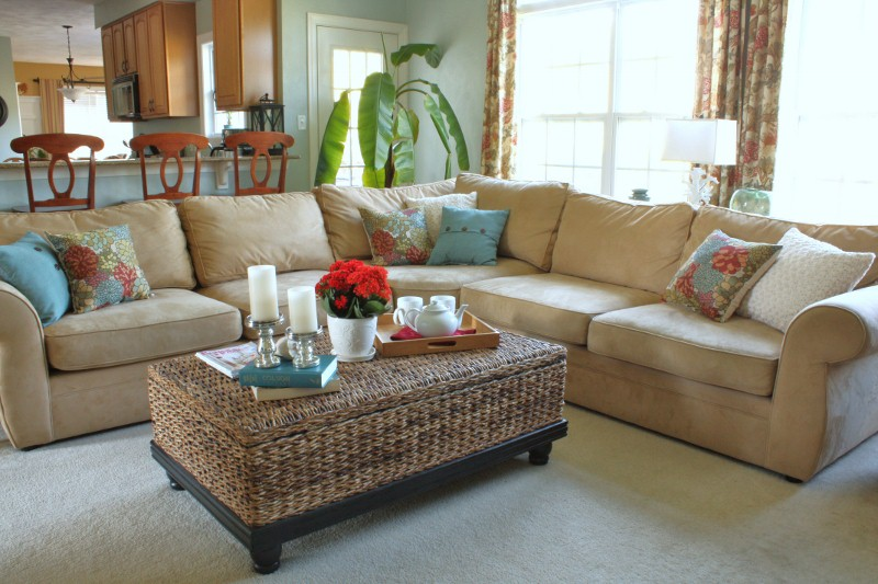 Better homes gardens family room refresh sand and sisal Better homes and gardens living room ideas