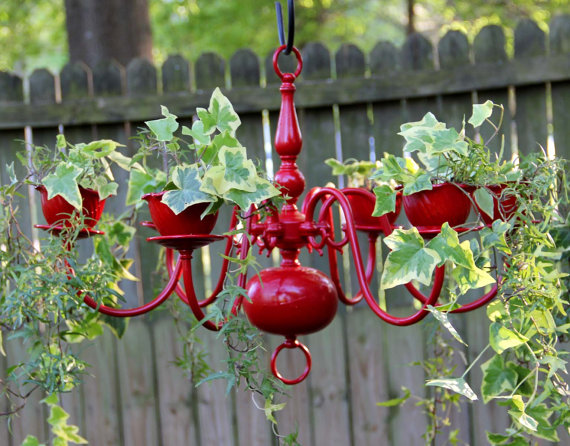 Creative Containers- Chandelier planter