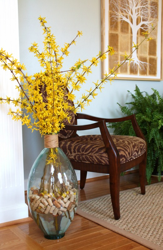 Forsythia  and wine cork arrangement - c4a.bc9.myftpupload.com