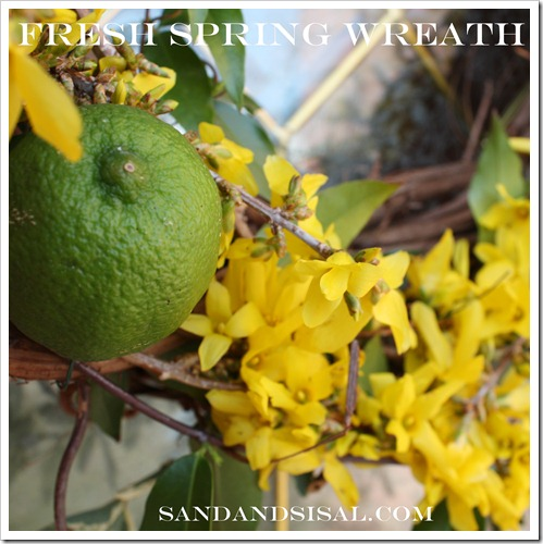 Fresh Spring Wreath by Sand and Sisal