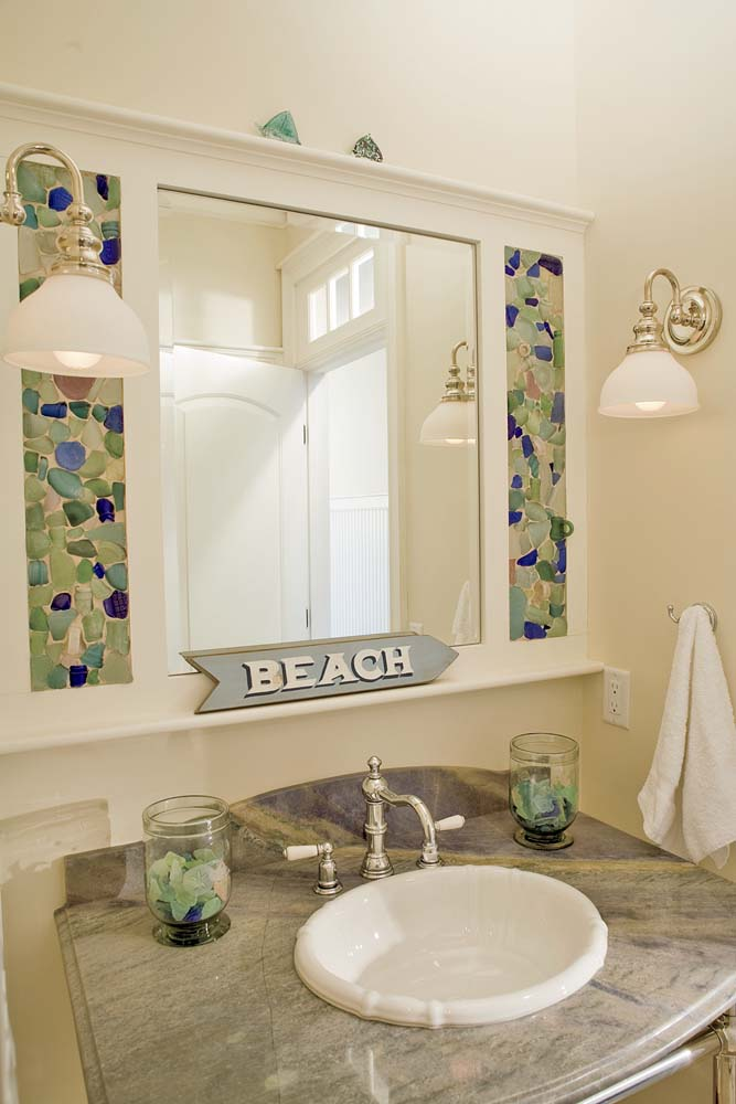 Sea Glass Projects - Sand and Sisal
