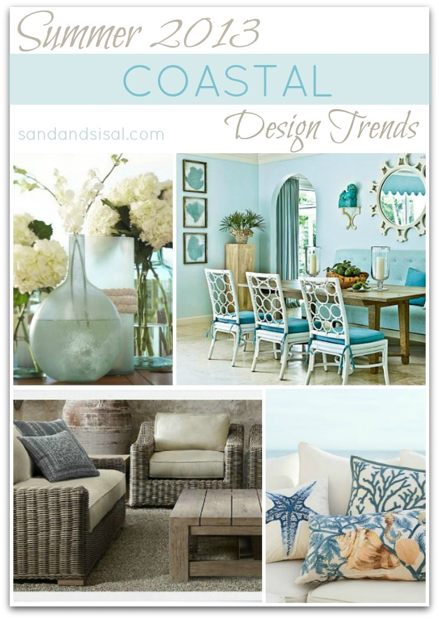 Summer design trend twitter party sand and sisal for Coastal designs decor