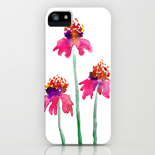 Watercolor Echinacea iphone case