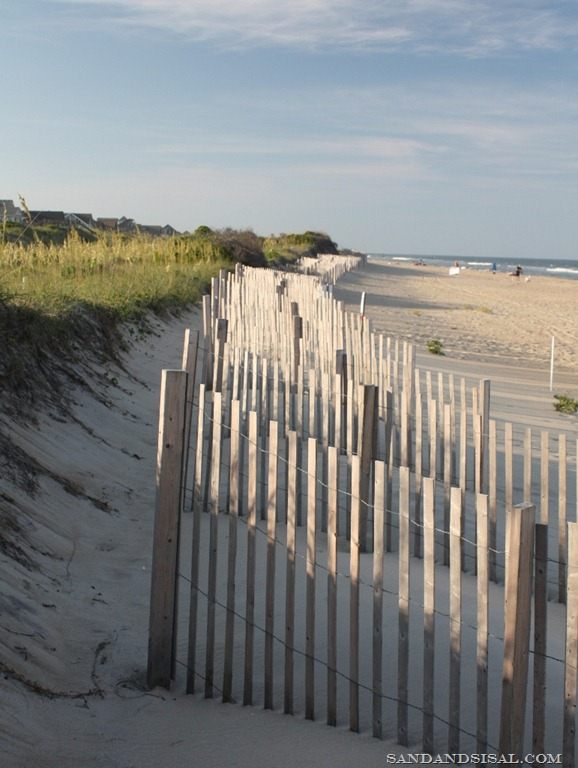beach fence Hatteras Island
