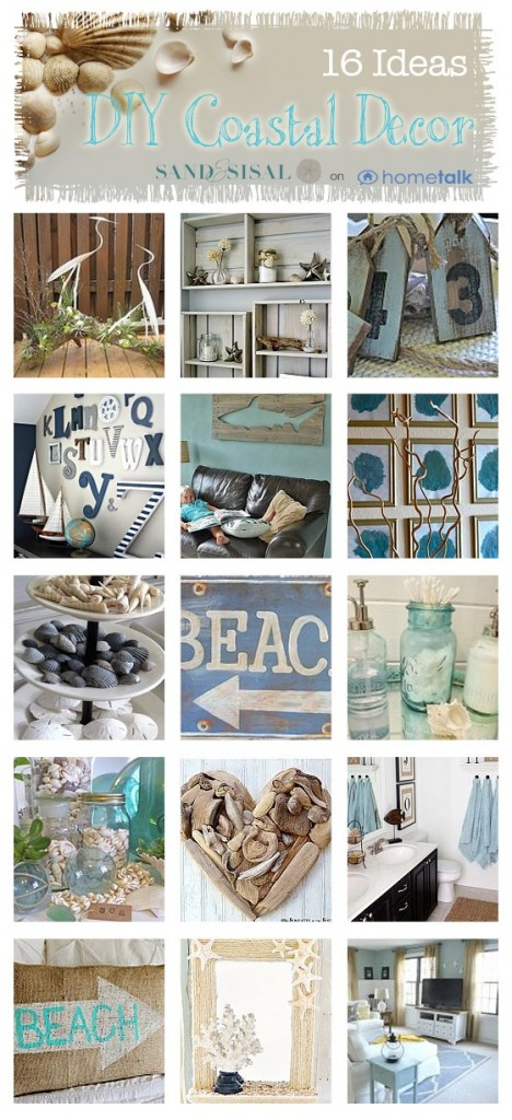 you can find all 16 of these do it yourself coastal decor projects on