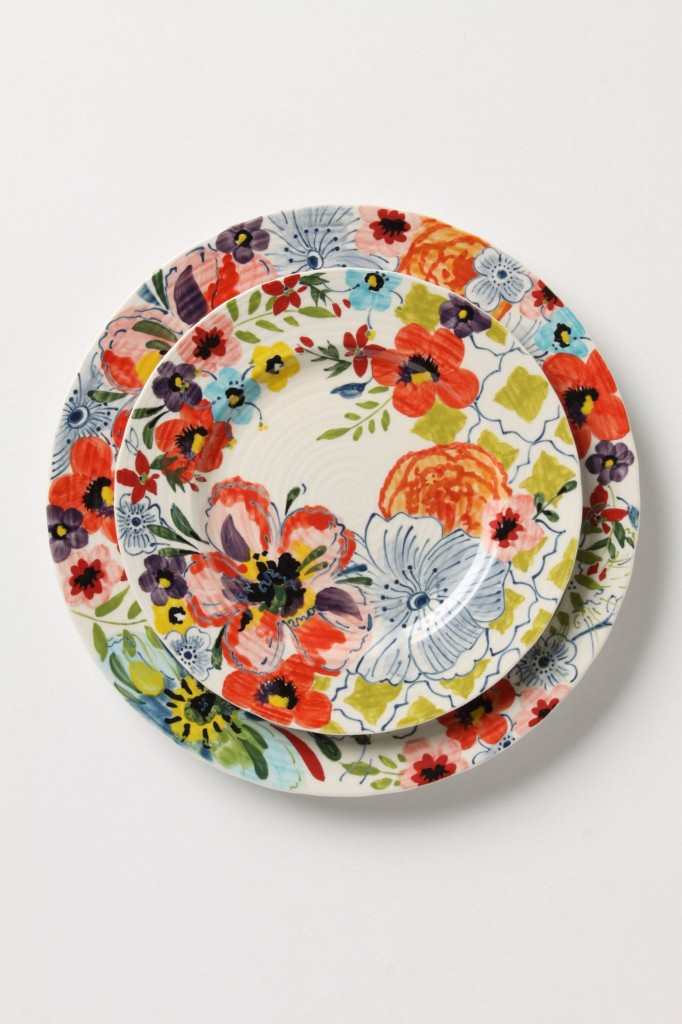 watercolor plates - anthropologie